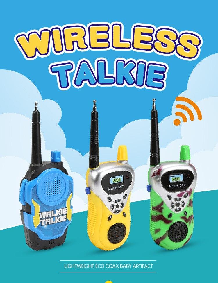 2PCS/SET Wireless Talkie Wireless electric intercom Children Telephone Toy For kids gift