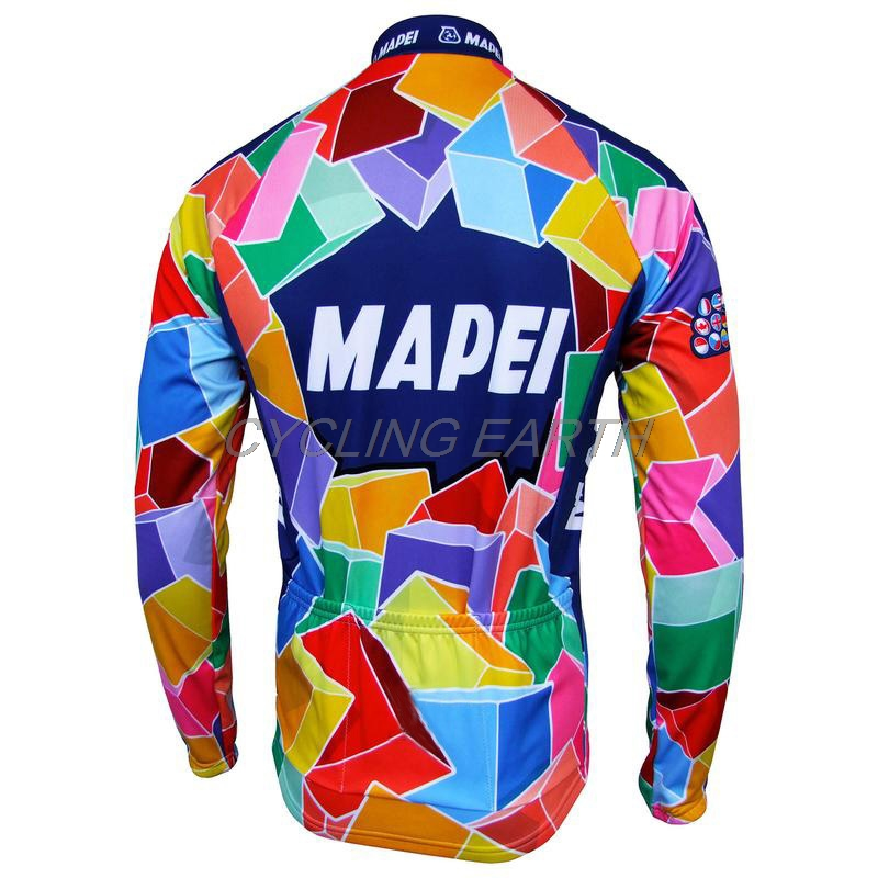 Cycling Mapei 2019 Auturmn Cycling Clothing Set Cycling Jersey Pro Team Long Sleeve Shirt Ropa Ciclismo Unisex Breathable Bib Pants Suit Attractive Designs; Sports & Entertainment