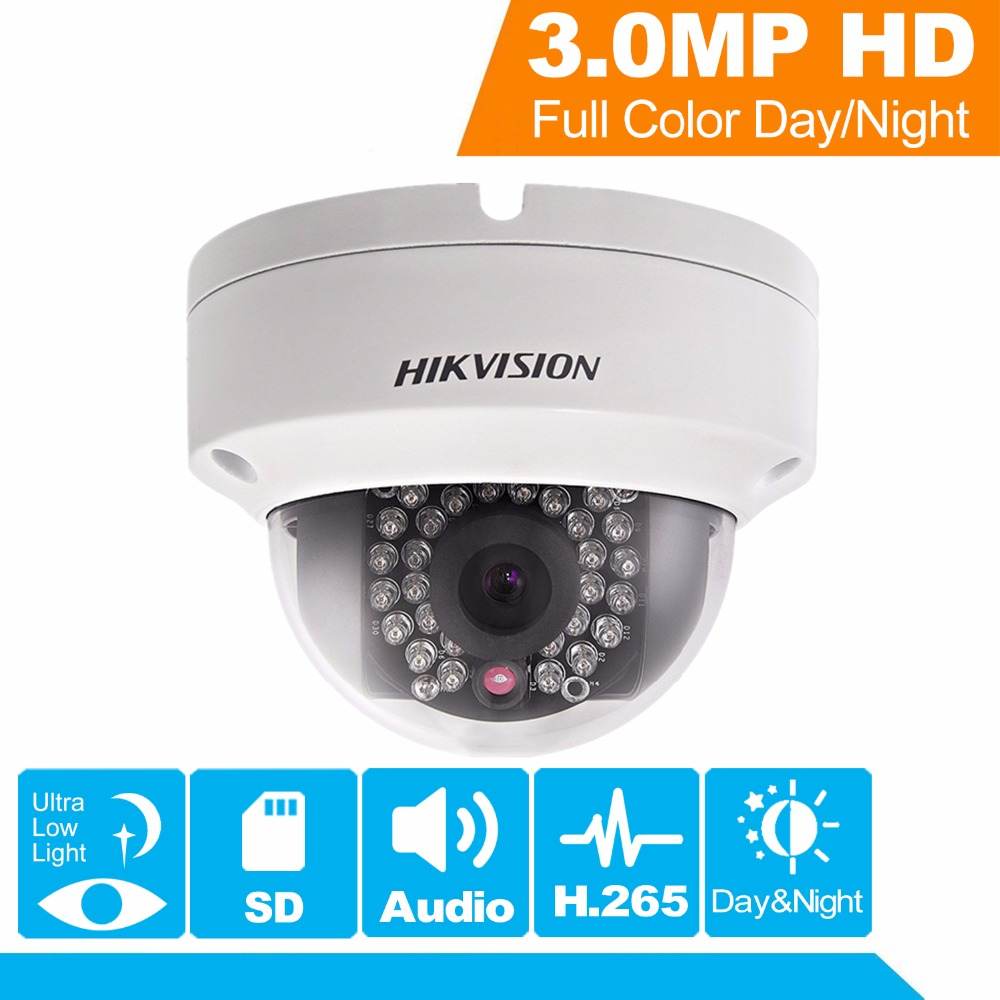 Hikvision H.265 PoE IP Camera DS-2CD2135FWD-IS 3MP WDR Fixed Network CCTV  Camera Built-in SD Card Slot replace DS-2CD2135F-IS