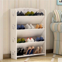 Simple modern carved shoes shelf Multi layer simple European style shoes cabinet Storage rack