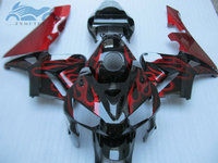 7gifts ABS Injection mold motorcycle fairings bodykit for HONDA F5 CBR 600 RR 2005 2006 CBR600RR 05 06 red flames fairing set