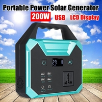 250Wh 200W Portable Solar Generator Power Supply Energy Storage Home Outdoor Power Generation USB LCD Display