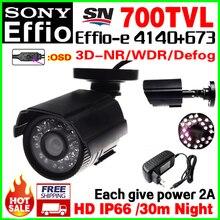 Give 2A Power!1/3″Sony CCD Real 700VL Effio-e CCD Mini Hd Surveillance Cctv Camera OSD Waterproof IP66 24led IR Day/Night Vision
