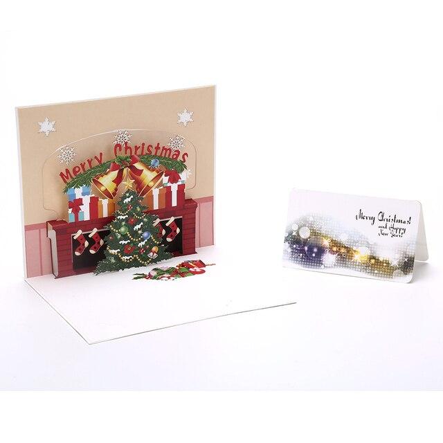 Frohe Weihnachten 3d.Us 1 69 16 Off 3d Weihnachtsbaum Kamin Handgemachte Neue Jahr Feiertagsgrußkarten Frohe Weihnachten Pop Up Geschenke In 3d Weihnachtsbaum Kamin