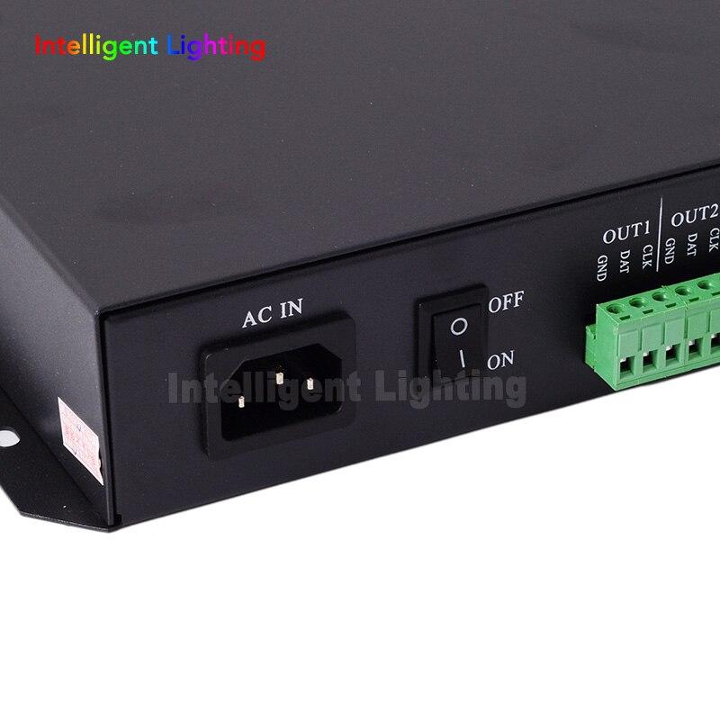 T-200K en ligne Led Pixel DMX contrôleur programme par PC pour WS2812 WS2811 1809 6803 WS2801 Pixels bande 8ports * 512 pixels - 6