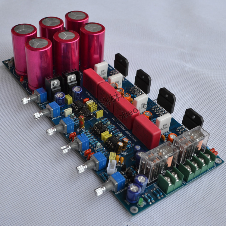 amplifier board with Relay protection DIY fever LM3886 subwoofer amplifier board 2.1 channel 68W * 2 + 120W hot sale power amp board 68w 68w lm3886 amplifier board with circuit protection
