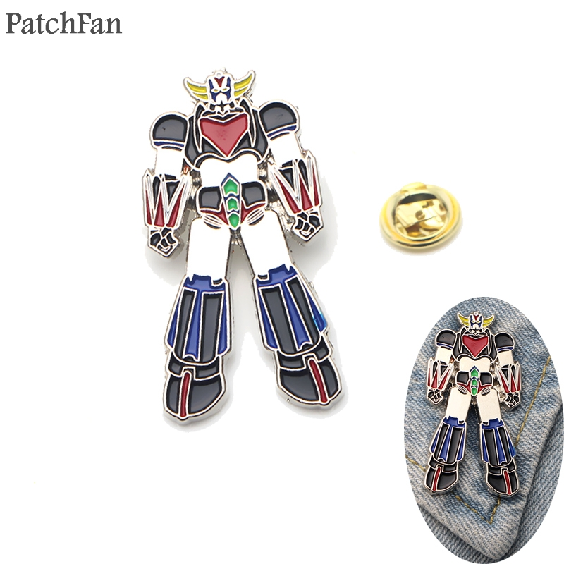 Patchfan UFO Robot Grendizer Metal Zinc pins Trendy medal insignia backpack shirt clothes bag brooches badge for men women <font><b>A1316</b></font> image