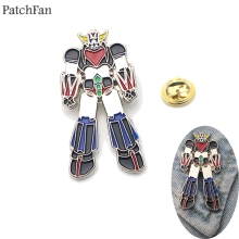 Patchfan UFO Robot Grendizer Metal Zinc pins Trendy medal insignia backpack shirt clothes bag brooches badge for men women A1316