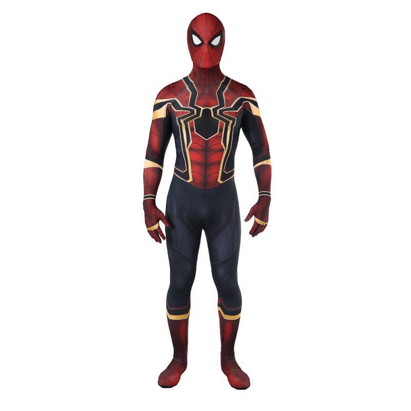 Spider-Man Costume Avengers Cosplay Spriderman Jumpsuit Outfit 3D Printed Halloween Superhero Zentai Bodysuit Adult Kids
