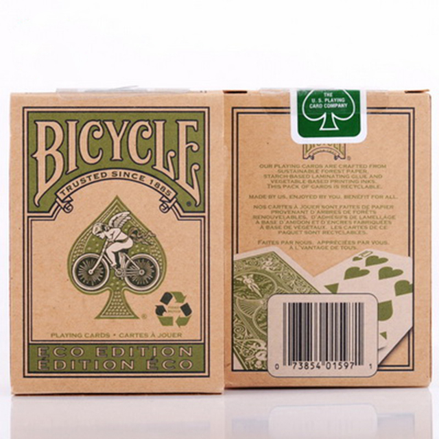 Bicycle Eco Edition Playing Cards Premium Quality Classic Deck Rider Recyclable magic Playing Card Tricks 83091
