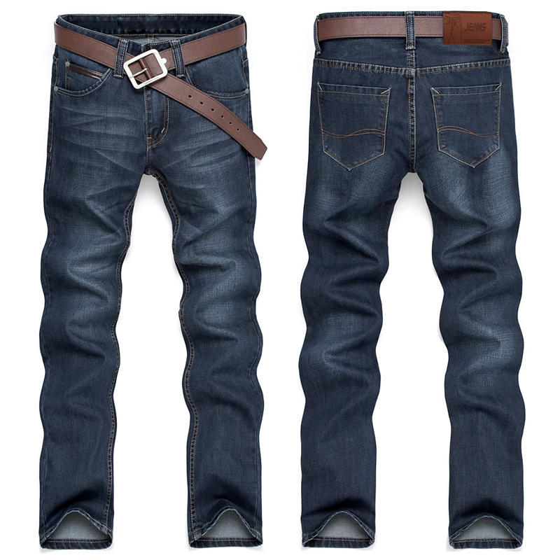 00d4621c656 2015 new Korean slim straight men s jeans and casual pants long deep blue  blast wave model 105-in Jeans from Men s Clothing on Aliexpress.com