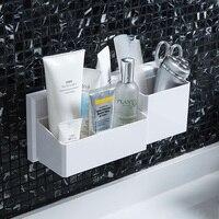 Punch free drain storage rack toilet wash shelf toilet bathroom wall cosmetics box