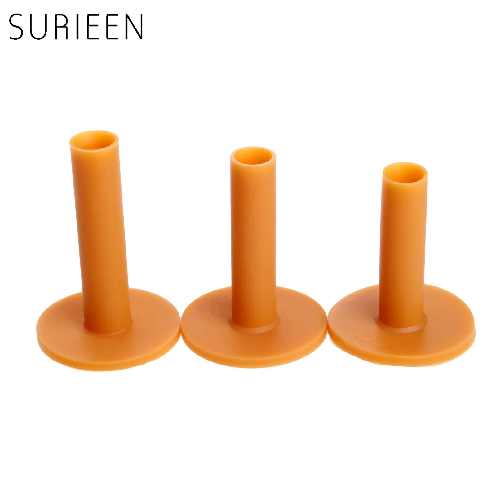 SURIEEN 3Pcs Rubber Golf Tees Holder 60mm/70mm/80mm Training Practice Tee Range Driving Practice Mat Golves Ball Hole Holder Set