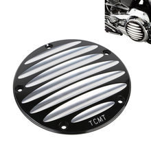 Motorcycle Derby Cover For Harley Twin Cam Electra Glide Ultra Limited FLHTK Dyna Super Glide Street Fat Bob FXDF 1999-2016 5 twin dual daymaker led headlight for harley dyna fat bob fxdf model daymaker led lamp 5 fat bob projector led headlights