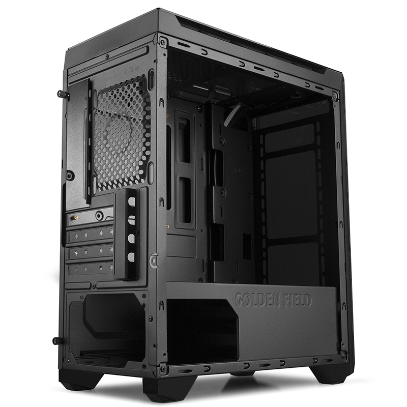 Golden Field N55 Computer Case 2 free Color Fans mATX Support Water Cooling 1