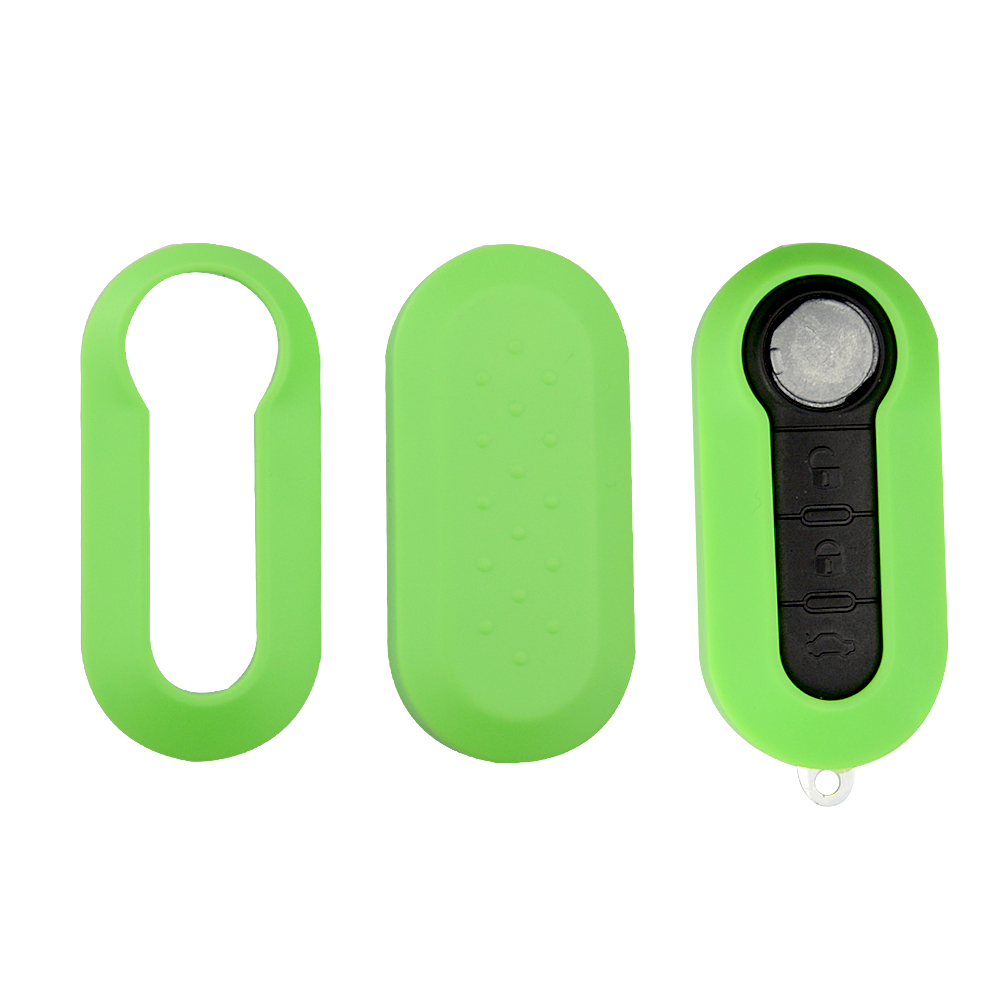 Image 4 - OkeyTech Remote Car Key Shell Cover Replacement Protective Case 3 Buttons Colorful for Fiat 500 Panda Punto Bravo Flip Folding-in Key Case for Car from Automobiles & Motorcycles