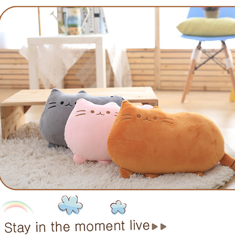 8Colors Cute Fat Cat Baby Plush Toy 20/40 cm Pillow Dolls For Children High Quality Soft Cushion Cotton Brinquedos For Kids Gift