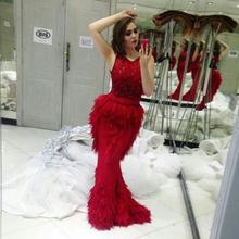 kejiadian Red Luxury Mermaid Dresses With Floor Length