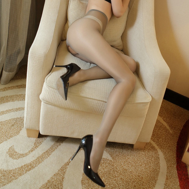 1c8d59374b1 Sexy Crothless Micro Shiny Pantyhose T File Open Crotch Women Tights Slim  Toe Transparent Medias Temptation