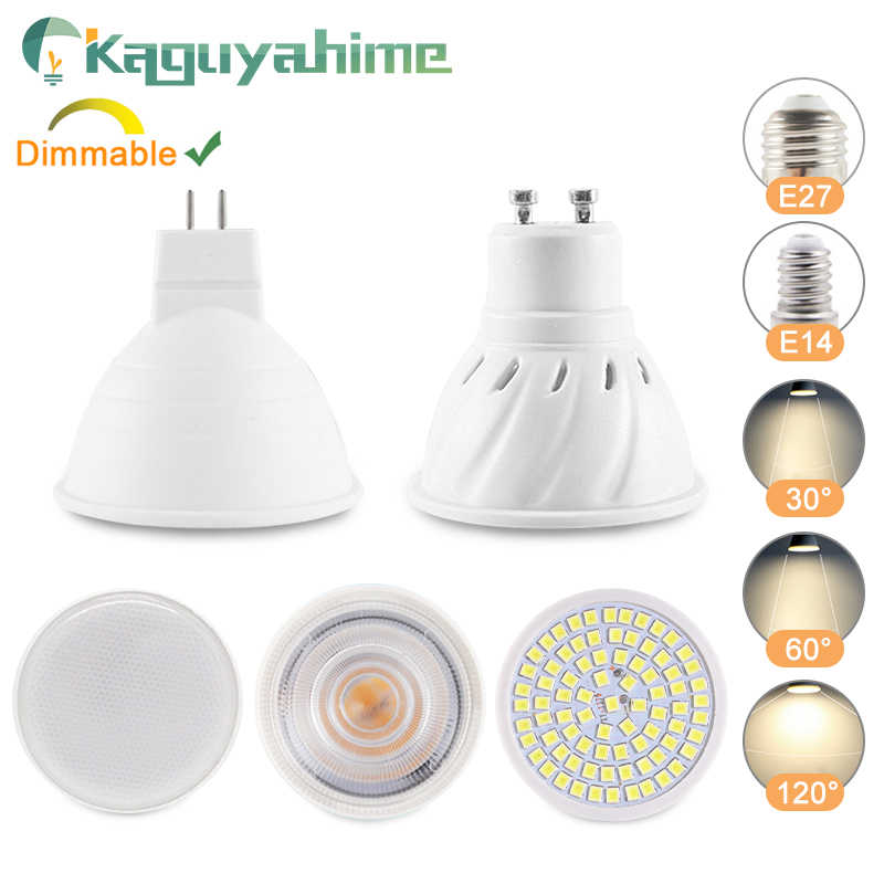 Kaguyahime LED MR16 GU5.3 MR11 E27 GU10 หลอดไฟ 8W 7W 6W LED SpotlightโคมไฟAC 220V DC 12V BrightหลอดไฟLED Home Lighting