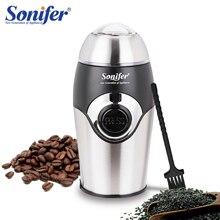 200W Mini Elektrische Koffiemolen Maker Keuken Zout Pepermolen Kruiden Moer Zaad Koffiebonen Molen Kruiden Noten 220V Sonifer