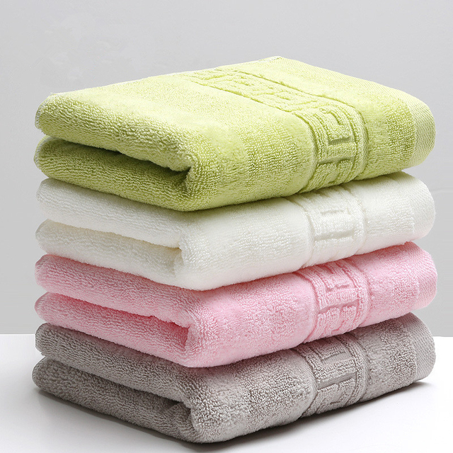 34x74cm 100% Cotton Absorbent Solid Color Soft Comfortable Top Grade Men Women Family Bathroom Hand Towel