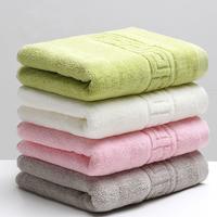 34x74cm 100% Cotton Absorbent Solid Color Soft Comfortable Top Grade Men Women Family Bathroom Hand   Towel
