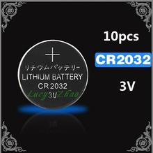 Free Brand New 10 x CR2032 DL2032 ECR2032 GPCR2032 CR 2032 3V Lithium Button Cell Coin Batteries For Watches,clocks, calculators
