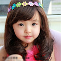 Long Full Lace Wigs for Kids Natural Wavy Synthetic Hair Pieces for Props Black/dark Brown Heat Resistant Hair Style for Stage