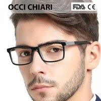 ddbeb7c455 OCCI CHIARI Men Glasses Frame Optical Men Man Classic Square Acetate Eyeglasses  Frames Myopia Glasses Spectacles