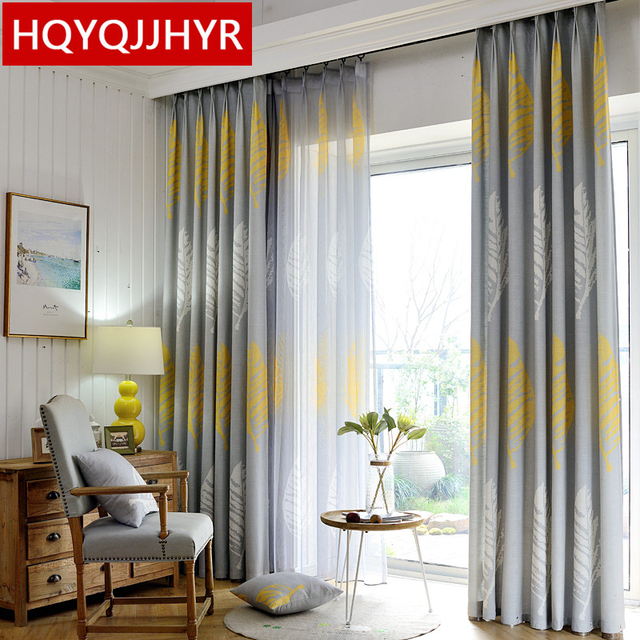 Simple modern American Blackout curtains for Bedroom High quality ...