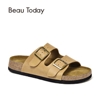 BeauToday Summer Slippers Women Genuine Cow Leather Casual Outdoor Flat Shoes Top Brand Handmade 34007