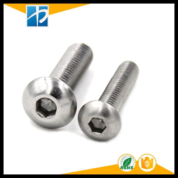 (50 pc/lot) M2,M2.5,M3,M4 *L =4~50mm ISO7380 Stainless Steel A2 Hex socket button head cap toy screw 50pcs iso7380 m2 m2 5 m3 a2 stainless steel hex socket button head screw screws
