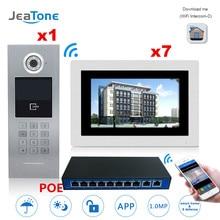 JEATONE Touch Screen IP Video Door Phone Intercom 7 Floors