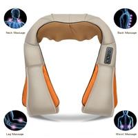 Multifunction Home Car U Shape Electrical Shiatsu Back Neck Shoulder Body Massager Scraping Infrared Heated Kneading Massagem