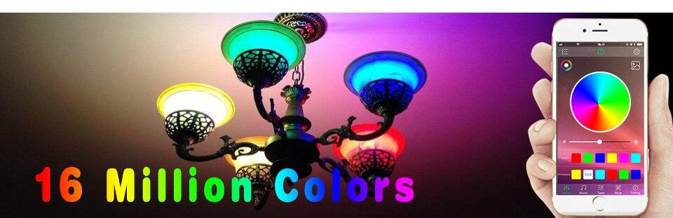 85-265V E27 LED Lamp RGB 15W Bluetooth APP Wifi Control Smart Bulb 10W RGBW RGBWW Light Bulb IR Remote Control Home Lighting (11)