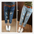 2016 Special Offer Time-limited Mid Cotton Jeans Spring Fashion Loose Plus Size Casual Denim Ankle Length Trousers Female Beggar