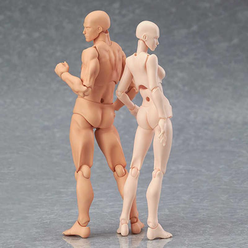 Figuras de ação pvc anime arquétipo ele ela ferrite figma corpo móvel kun corpo chan figura de ação modelo brinquedos boneca para collectible