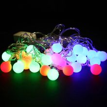 Top Quality 5.5 M 28LED Bulbs Waterproof Round Ball Christmas Fairy Party String Lights Christmas Tree Ornaments Home Decor
