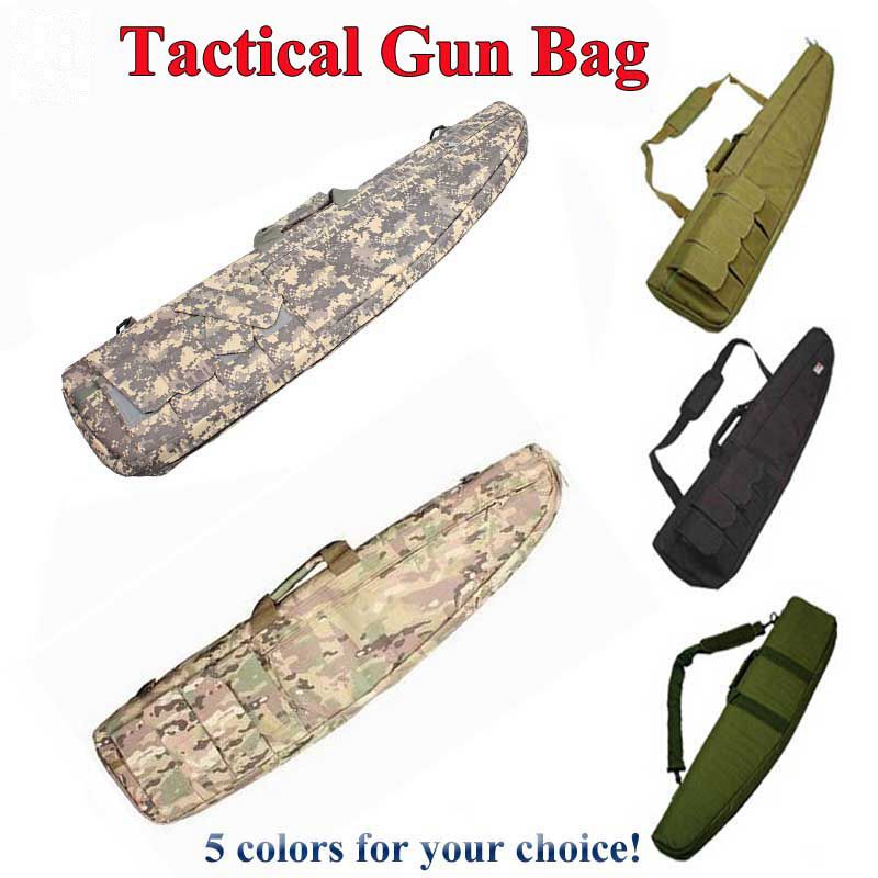Tactical 98 118CM Heavy Gun Slip Carry Bag Rifle Gun Protection Case Shoulder Bag Nylon Pouch Outdoor Airsoft Paintball Hunting-in Holsters from Sports & Entertainment