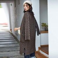 IRINAW925 2018 AW Коллекция Новые поступления повседневные длинные кабель трикотажные yakwool свитер женские кардиганы