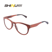 Cute Style Vintage Glasses Women Glasses Frame Round Eyeglasses Frame Optical Frame Red Sandalwood Oculos Femininos