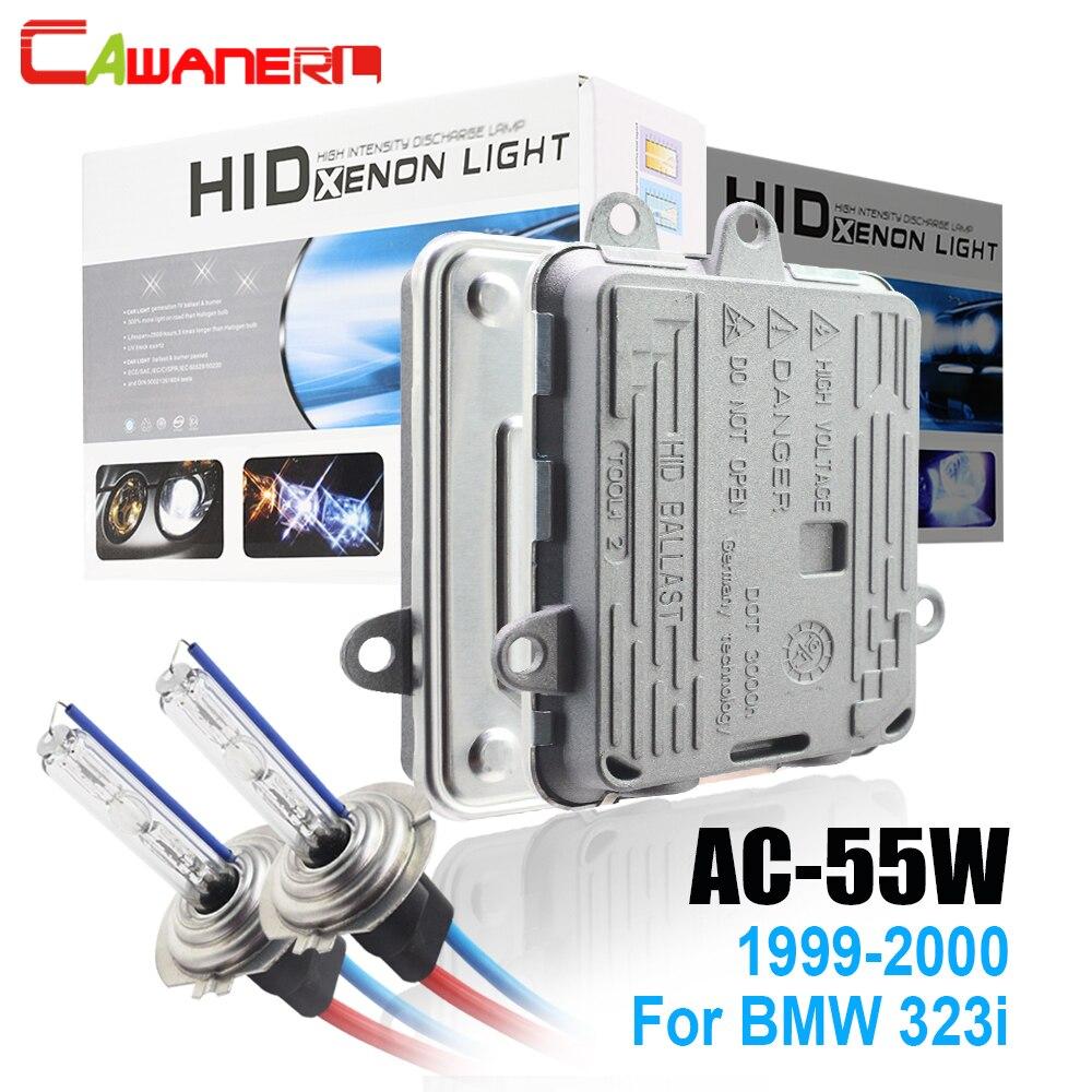 Cawanerl 55W AC HID Xenon Kit Bulb Ballast 3000K-8000K 12V For BMW 323i 1999-2000 Replacement Car Styling Headlight Light стоимость