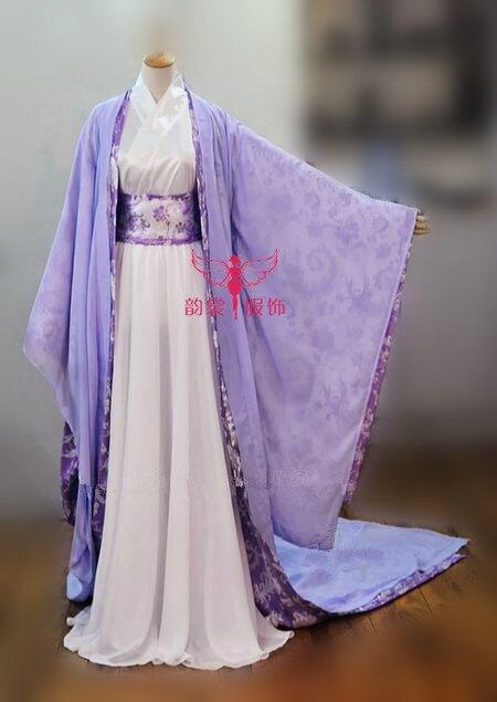 Чонг Lian однополые мужской женский потому Hanfu великолепный костюм полный комплект ( топ + шифоновая юбка ) + атласа халат + шифон халат