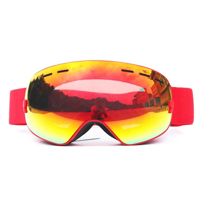 Kayak ayna yetişkin çift sis geçirmez büyük küresel kayak gözlüğü tek ile donatılmış çift kurulu olabilir sıkışmış miyopi