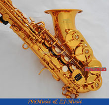 Gold Plated Curved Soprano Saxophone Bb key to High F key and G Key