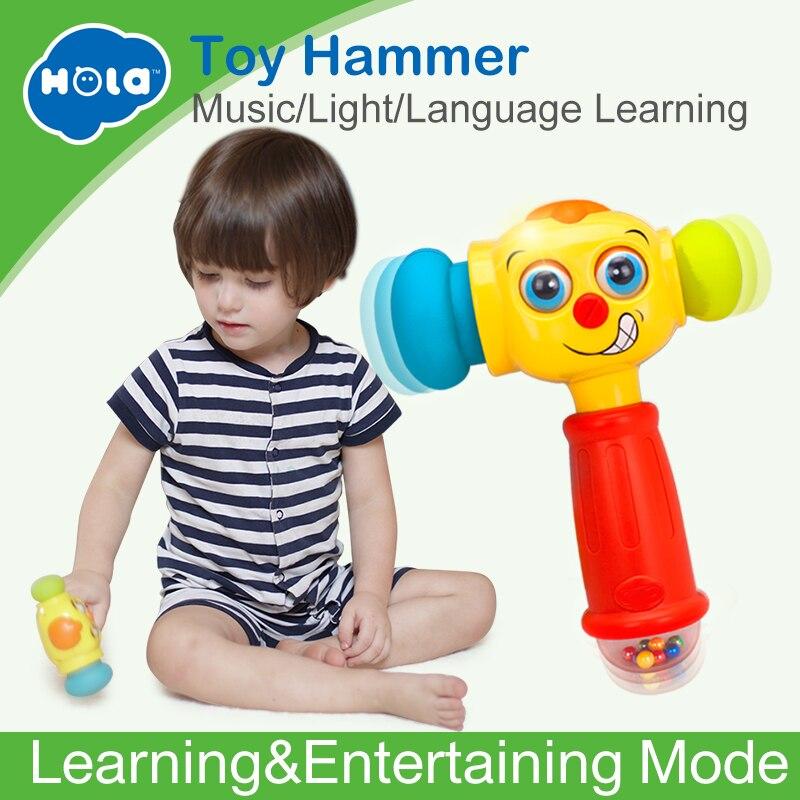 HUILE SPIELZEUG 3115 Baby Spielzeug Kleinkind Spielen Hammer Spielzeug mit Musik & Lichter Elektrische Spielzeug Verbessern babys Betrieb Fähigkeit 12 monat +