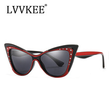 2019 Hot Women Luxury Brand glasses Gradient Metal jewel with Rhinestone Decoration Cat Eyes