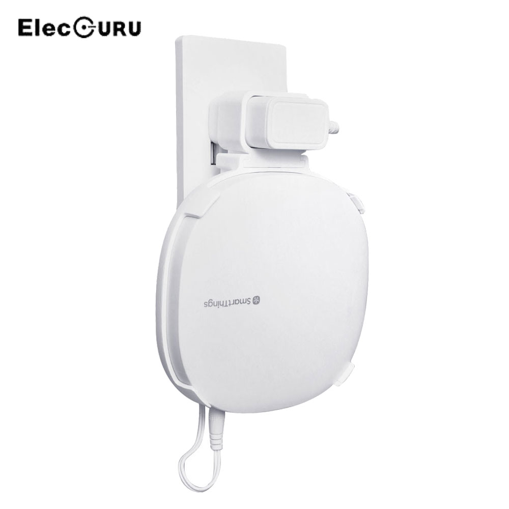 Wall Mount Router Outlet Holder For SmartThings Hub 3rd Generation,Sturdy Stylish Wifi Router Shelf Bracket Cable Management