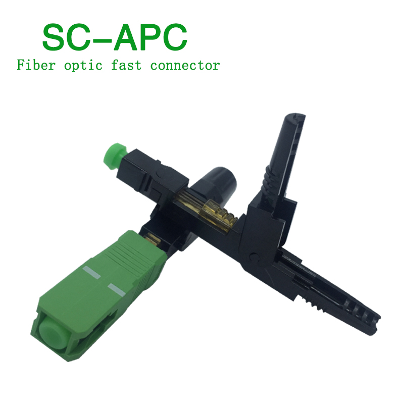 200pcs/lot FTTH SC APC Single-mode Fiber Optic SC APC Quick Connector SC APC FTTH Fiber Optic Fast Connector
